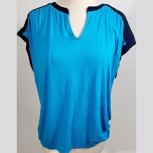 The Limited Blue V-neck Short Sleeve sz XL